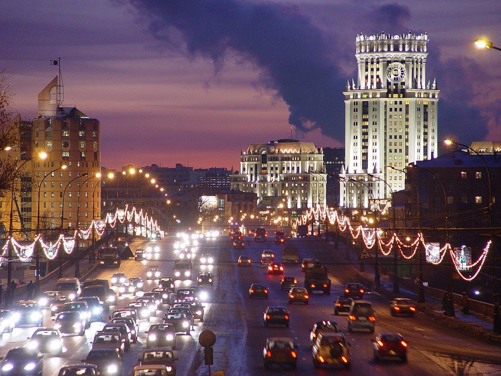 Москва вечерняя высотка